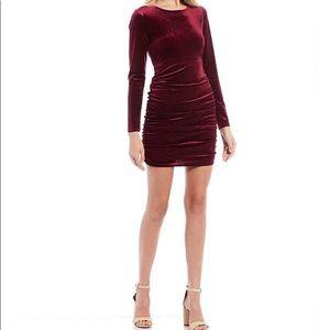 Crystal Doll Glitter Velvet Bodycon Dress Medium